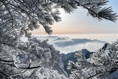 Huangshan Winter China Mountains 1440 2160 Wallpapers