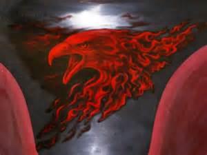 Airbrush Eagle Flames