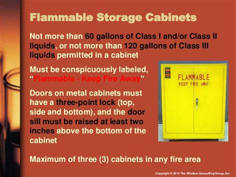 Flammable Cabinets Grounding Requirements by Osha Compliance With Flammable And Combustible Liquids