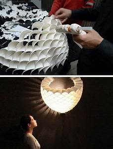 Lampe Aus Federn : recycled paper cup lamp is a glowing honeycomb of light ~ Michelbontemps.com Haus und Dekorationen