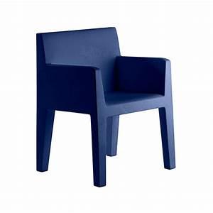 Chaise Bleu Marine : chaise avec accoudoirs jut jardinchic ~ Teatrodelosmanantiales.com Idées de Décoration