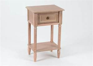 Table De Chevet Bois : table de chevet tiroir bois naturel vieilli ~ Teatrodelosmanantiales.com Idées de Décoration