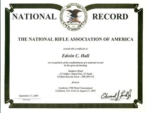 Shooting Competition Certificate Template