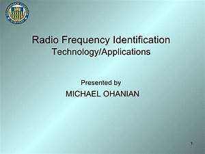 Radio Frequency Identification Technology/Applications