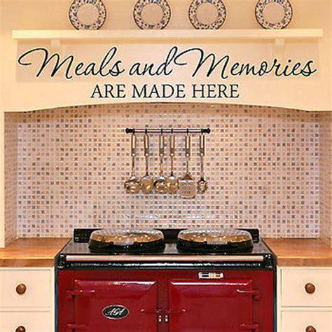 wall stickers for kitchen design meals and memories are made here kitchen diner quote vinyl 8887