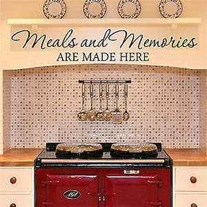 meals and memories are made here kitchen diner quote vinyl With kitchen cabinets lowes with family word wall art