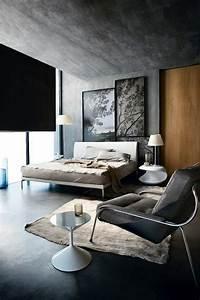 le gris anthracite en 45 photos d39interieur With peinture sur les murs