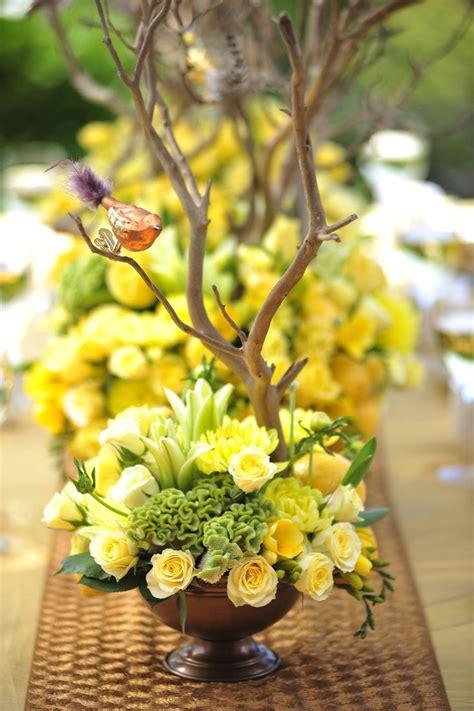 yellow flower arrangements ideas  pinterest