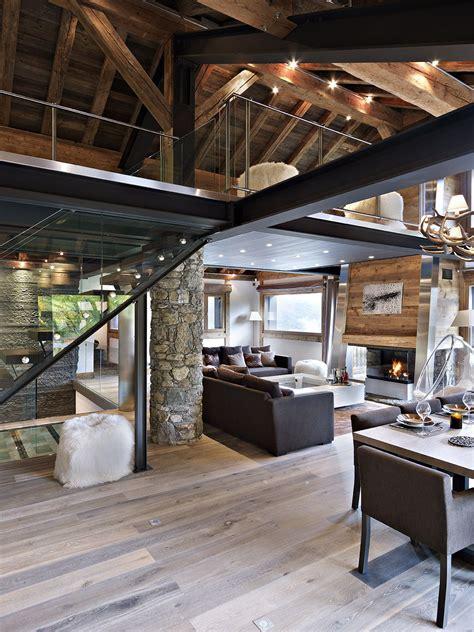 décoration d 39 intérieur moderne pour un chalet de luxe à la