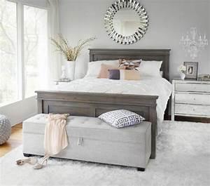 40 idees pour le bout de lit coffre en images With tapis chambre bébé avec robe blanche fleur