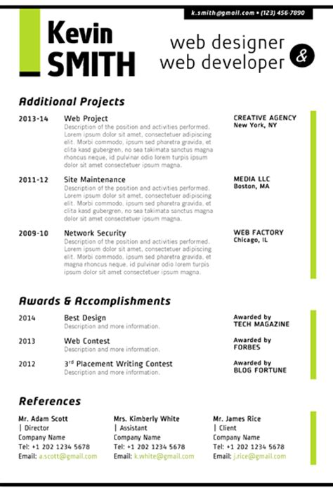 web designer resume template trendy resumes