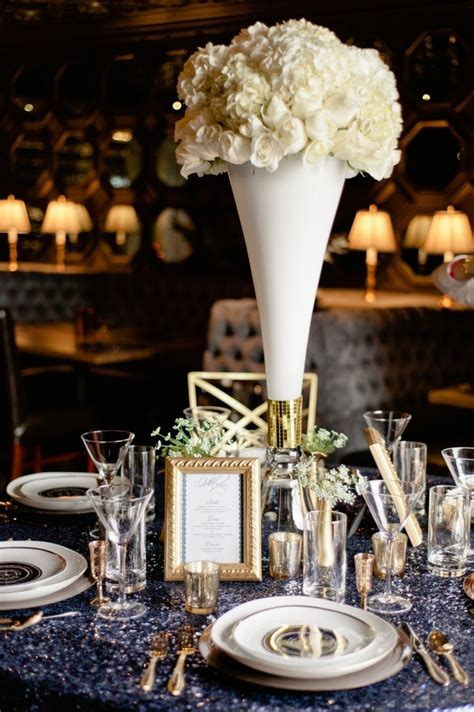 white floral wedding centerpiece  hollywood wedding