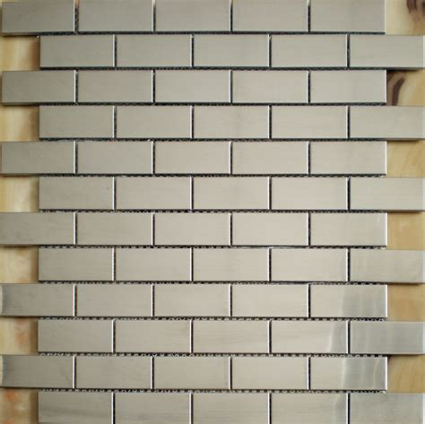 construction silver tiles stainless steel subway tile