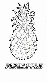 Pineapple Coloring Adult Template Getdrawings Adults Apple Stitch sketch template