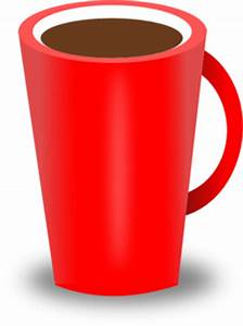 Red Coffee Cup Clipart | i2Clipart - Royalty Free Public ...