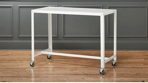 cart rolling white counter table reviews cb