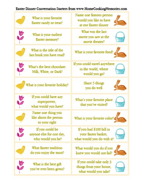dinner conversation topics