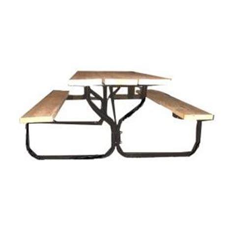 picnic table frame kit black round picnic table frame kit cing pinterest