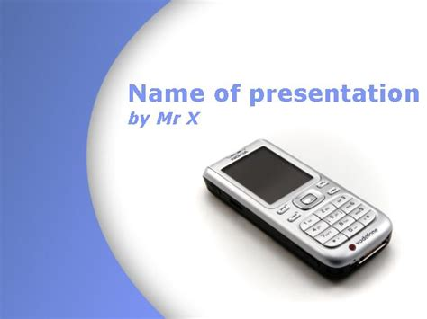 mobile phone purple design powerpoint template