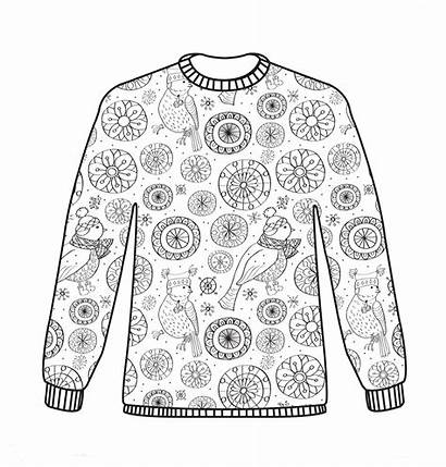 Coloring Christmas Colouring Pages Sheets Adult Jumper