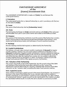small business agreement template business partnership With international trade contract template