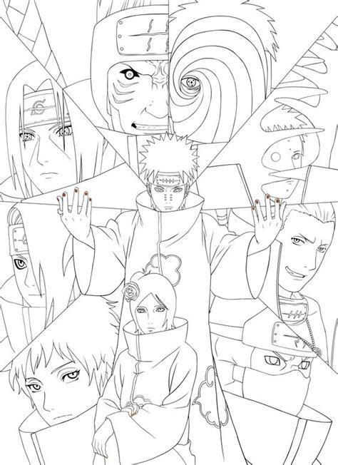 members  akatsuki coloring page  printable coloring pages  kids