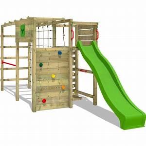 1b66c4f8be091 portique d 39 escalade fitframe fresh xxl aire de jeux pour jardin avec  toboggan fatmoose pas cher