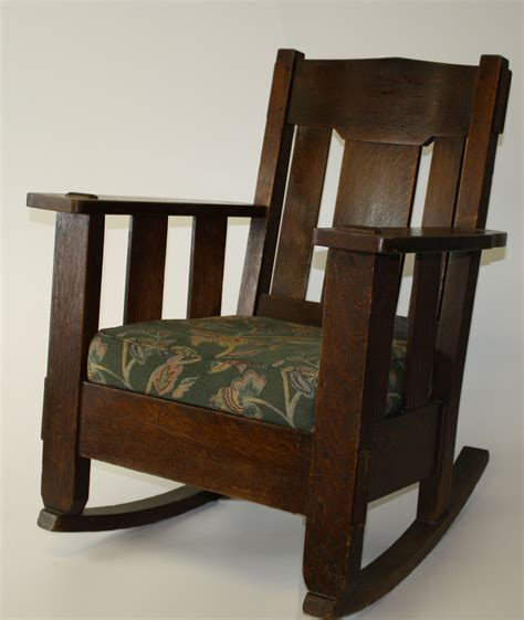 Stickley Upholstered Rocking Chair by Stickley And Brandt Oak Arts And Crafts Rocking Chair Jpg