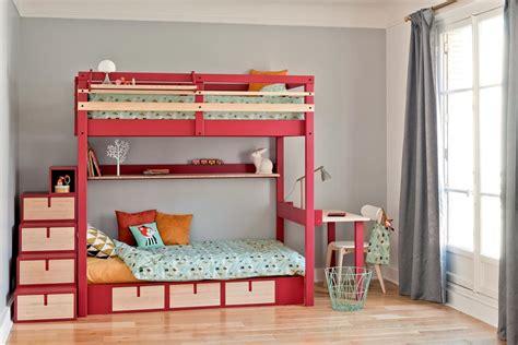 lit superpose avec bureau chambre domozoom