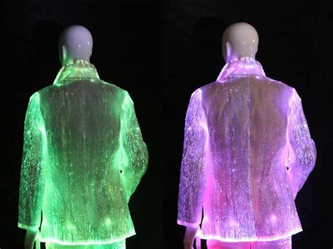 fiber optic clothing luminous led lighting