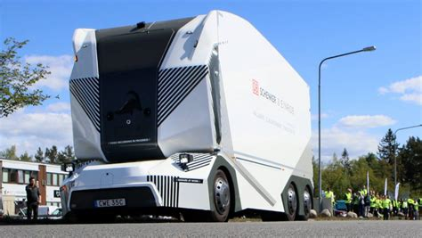 driverless truck delivers  goods  sweden stuffconz