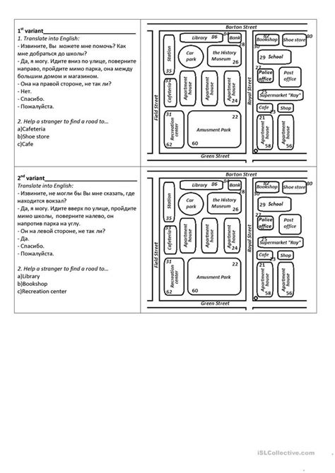 finding the way a dialog with a map worksheet free esl printable worksheets made by teachers