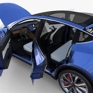 Tesla Model Y RWD Blue with interior and chassis by dragosburian | 3DOcean