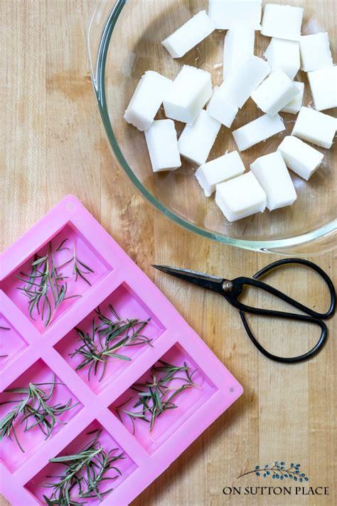 diy rosemary mint soap recipe melt  pour version