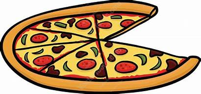 Pizza Cartoon Cliparts Slice Missing Cheese Vector