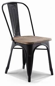 Chaise Industrielle Metal : chaise de bistrot industrielle en bois m tal ~ Teatrodelosmanantiales.com Idées de Décoration