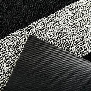 acheter chilewich grand tapis toison a rayure noir blanc With grand tapis noir