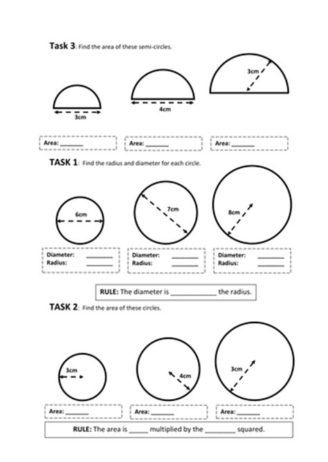 circles revision worksheets ks3 by baconeducation teaching resources