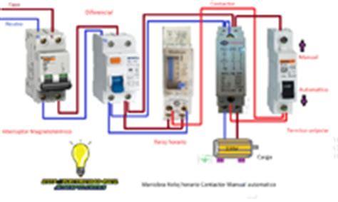 maniobra con reloj horario contactor monofasico y manual automatico para peque 241 a depuradora