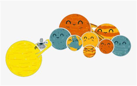 The Nine Planets Of The Solar System Cartoon Creative