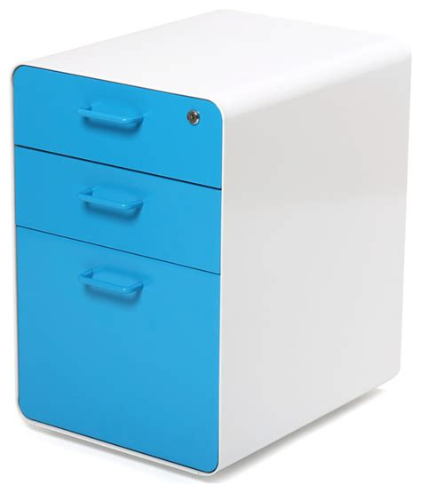 west 18th file cabinet white pool blue modern filing