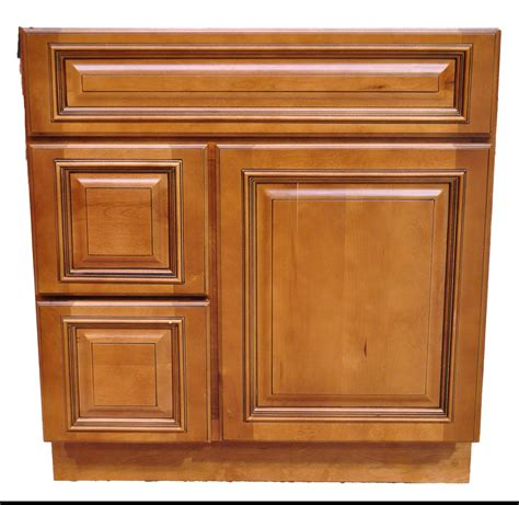 30 Inch Bathroom Cabinet Vanity Heritage Caramel Left
