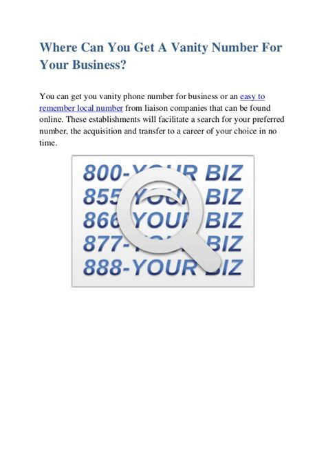 Vanity Phone Numbers by Vanity Phone Number For Business