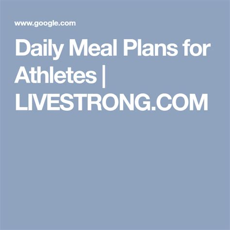 daily meal plans  athletes  images daily meal
