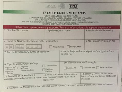 Your Mexico Visitors Permit, Fmm