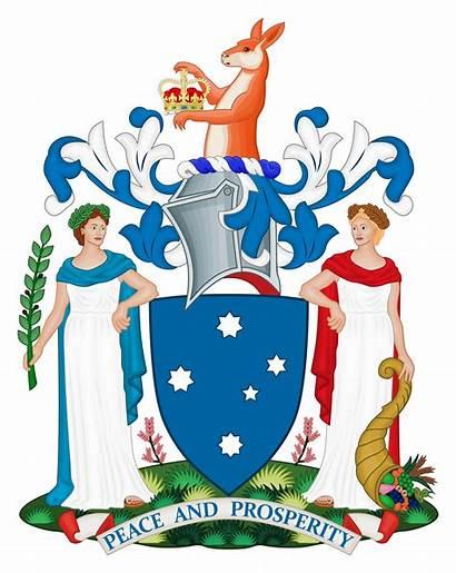 Arms Coat Victoria Australia Victorian State Council