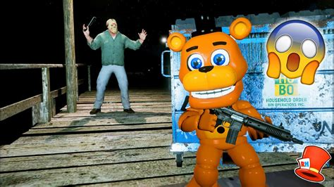 Can Adventure Freddy Hide From Crazy Jason? (gta 5 Mods