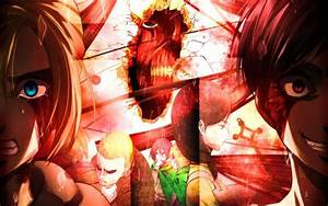 annie leonhart eren jaeger attack on titan shingeki no ...