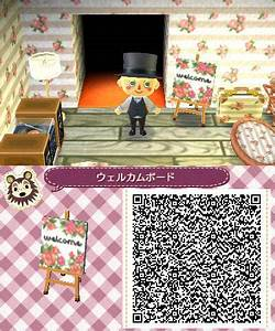 Small Welcome Sign Tile - Animal Crossing New Leaf QR Code ...