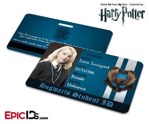 harry potter inspired hogwarts student id ravenclaw